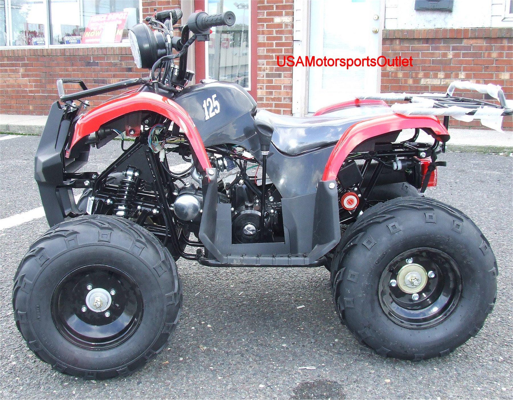 Free SHIP 125cc ATV Quad 8 Rims w Reverse 110cc NJ on PopScreen